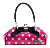 Floozy Purse Polka Dot Pink/White - Wicked Rockabilly & Gifts - 1
