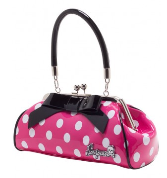 Floozy Purse Polka Dot Pink/White - Wicked Rockabilly & Gifts - 2