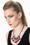 Raina Diamante Leaf Cherry Necklace