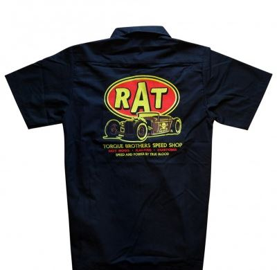 """RAT"" Embroidered Work Shirt"