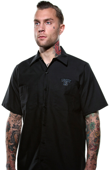 Tuff Enuff Mens Work Shirt - Wicked Rockabilly & Gifts - 2