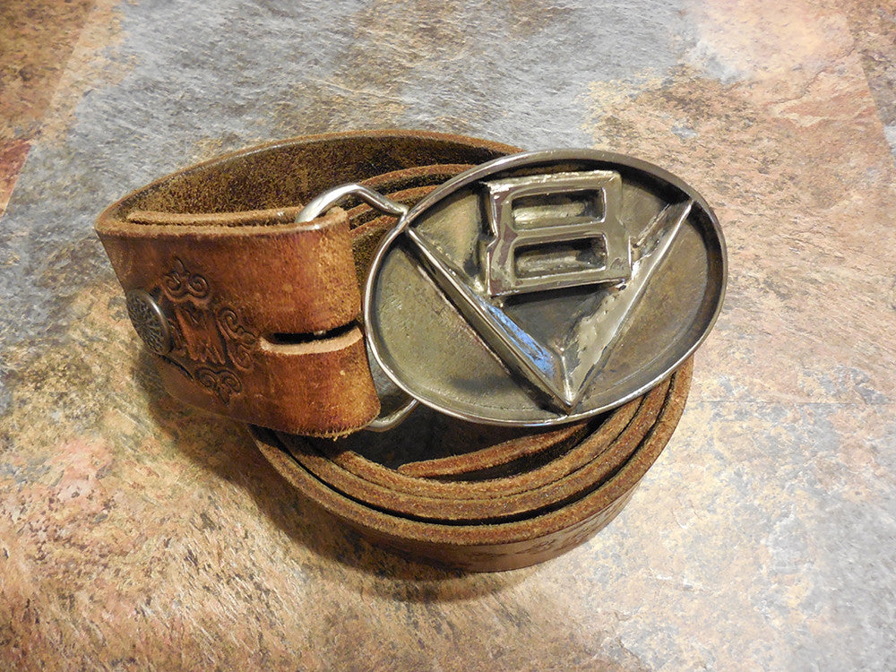 V8 Revv'd up Belt Buckle - Wicked Rockabilly & Gifts