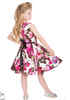 Girls Audrey 50's Cream Floral Swing  Dress - Wicked Rockabilly & Gifts - 2