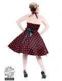 Black Big Dot Red Dress - Wicked Rockabilly & Gifts - 2
