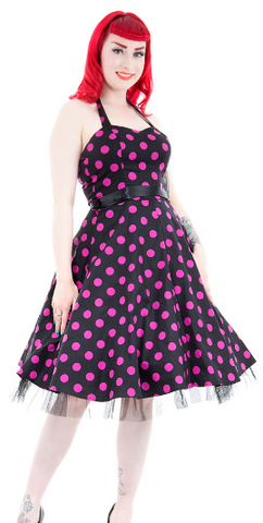 Black Bombshell Cherry Wiggle Dress