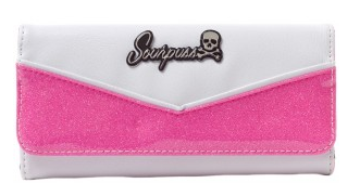 Monroe Wallet - bubblegum and White - Wicked Rockabilly & Gifts