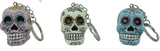 Day of the Dead Candy Skull Keyring - Wicked Rockabilly & Gifts
