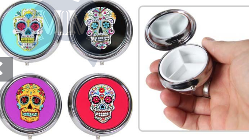 Candy Skull Pill Holder - Wicked Rockabilly & Gifts