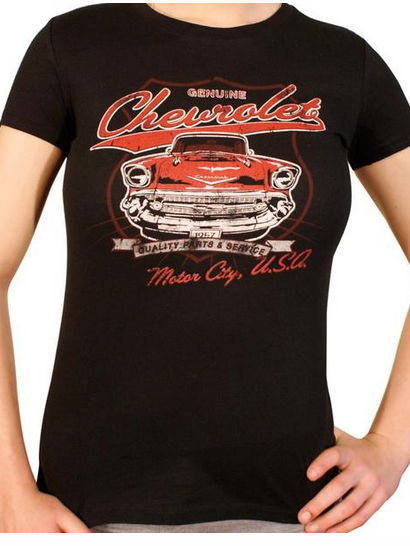 GM Motor City Chevrolet Gals T - Wicked Rockabilly & Gifts - 1