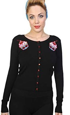 Ladies Rockabilly Sugar Skull Top