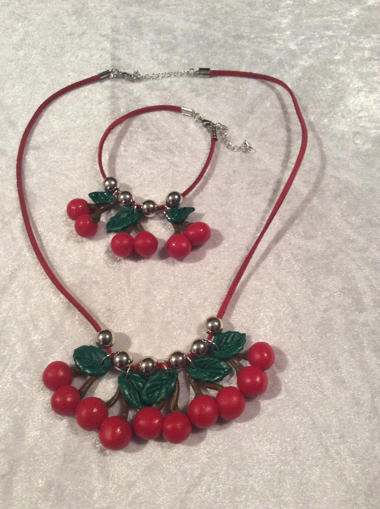 Lush Cherry Necklace - Wicked Rockabilly & Gifts