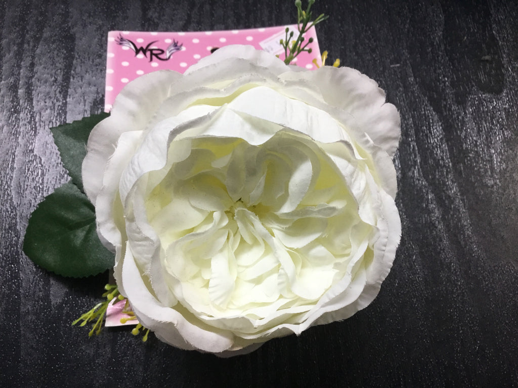 Open Rose  Floral Leaf  Hair Accessory  - Assorted Designs
