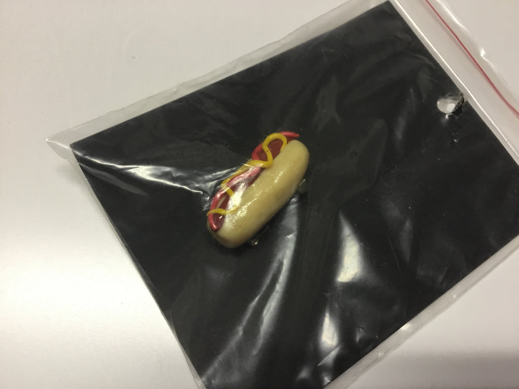 Hot Dog Brooch