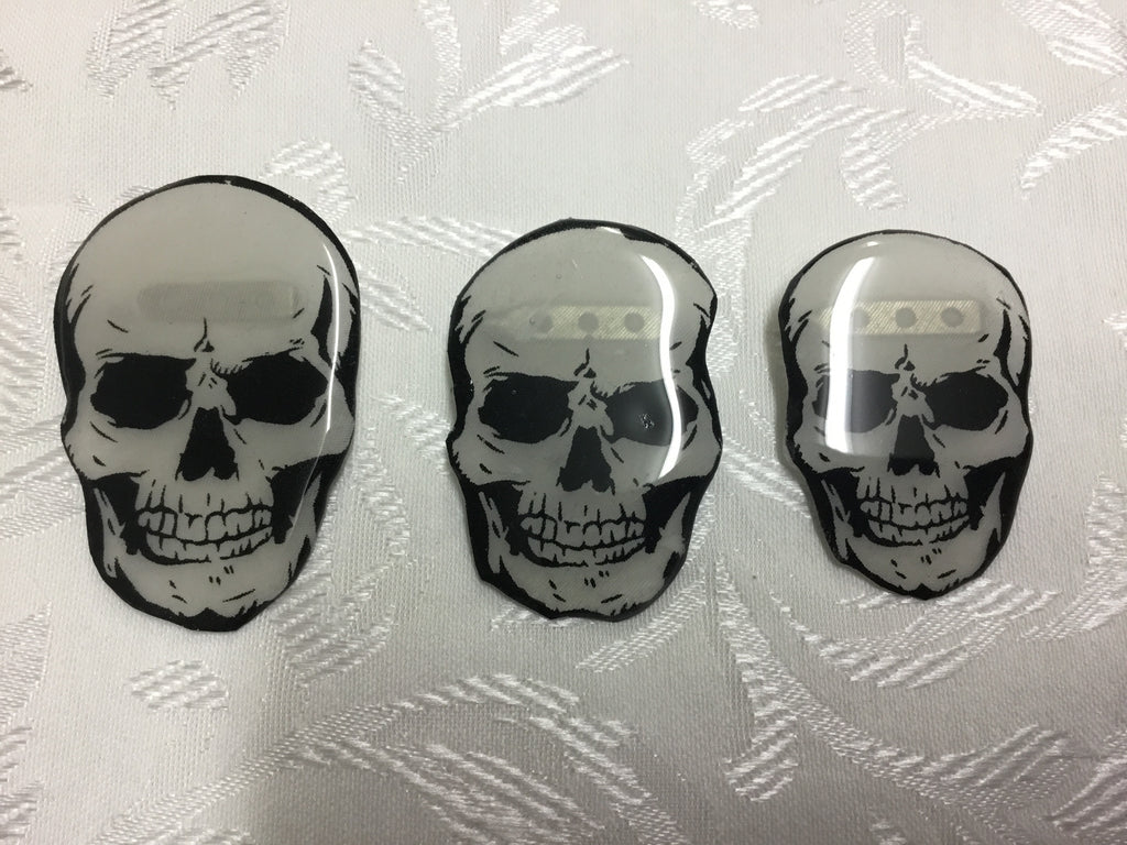Skull Glass Resin Brooch