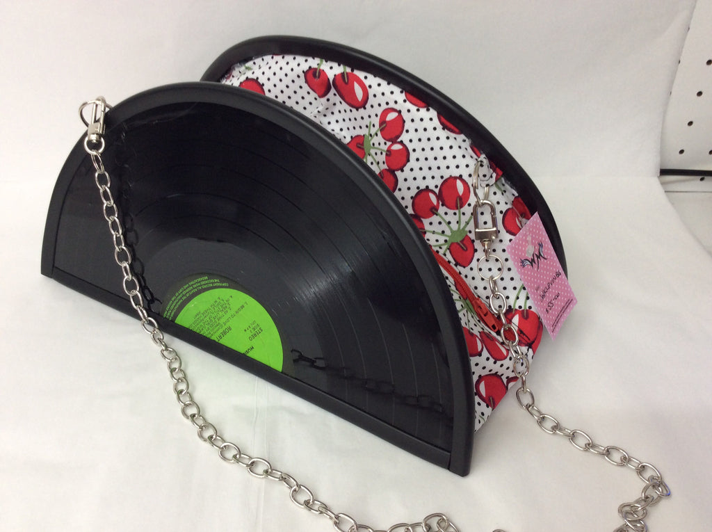 Vinyl Record Bag with Chain handle - Wicked Rockabilly & Gifts