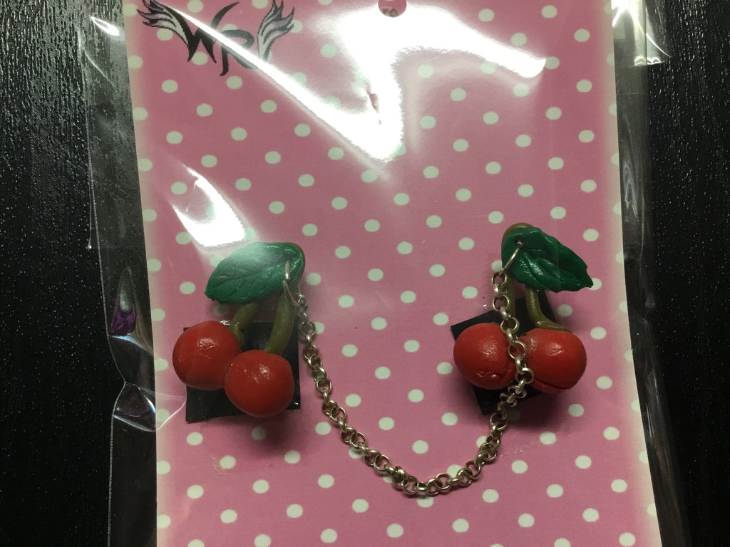 Cherry Brooch Cardigan clip
