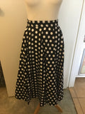 Black Polka Dot  Swing Skirt