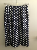 Polka Dot Navy Pencil Skirt