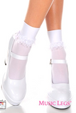 Opaque Anklet Sock Ruffle trim  ML513