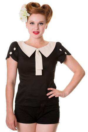 Retro style top black - Wicked Rockabilly & Gifts - 2