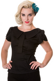 Retro style top black - Wicked Rockabilly & Gifts - 1
