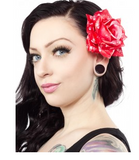 Hair Rose Skulls Red - Wicked Rockabilly & Gifts