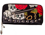Skulls & Roses Wallet    ETA  MID OCTOBER - Wicked Rockabilly & Gifts