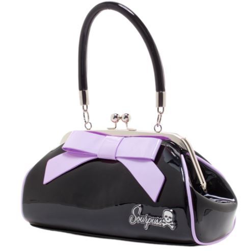 Purse  Floozy Black / Lilac