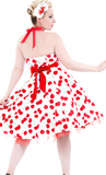 White Bombshell Swing Dress - Wicked Rockabilly & Gifts - 2