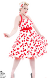 White Bombshell Swing Dress - Wicked Rockabilly & Gifts - 1