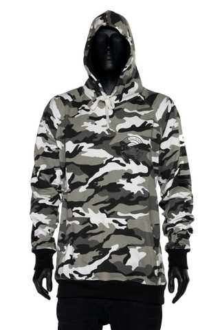 Shred Til Ya Dead Hood - Snow Camo