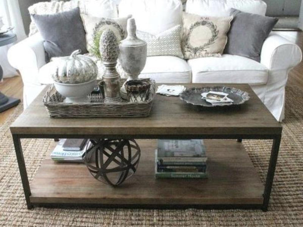 Staging a Coffee Table for Winter