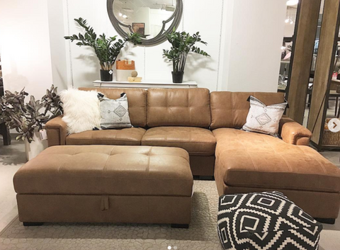 Calgary leather sectional