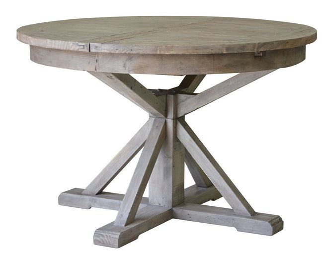 Irish Coast Round Extension Dining Table - Sundried | Showhome Furniture
