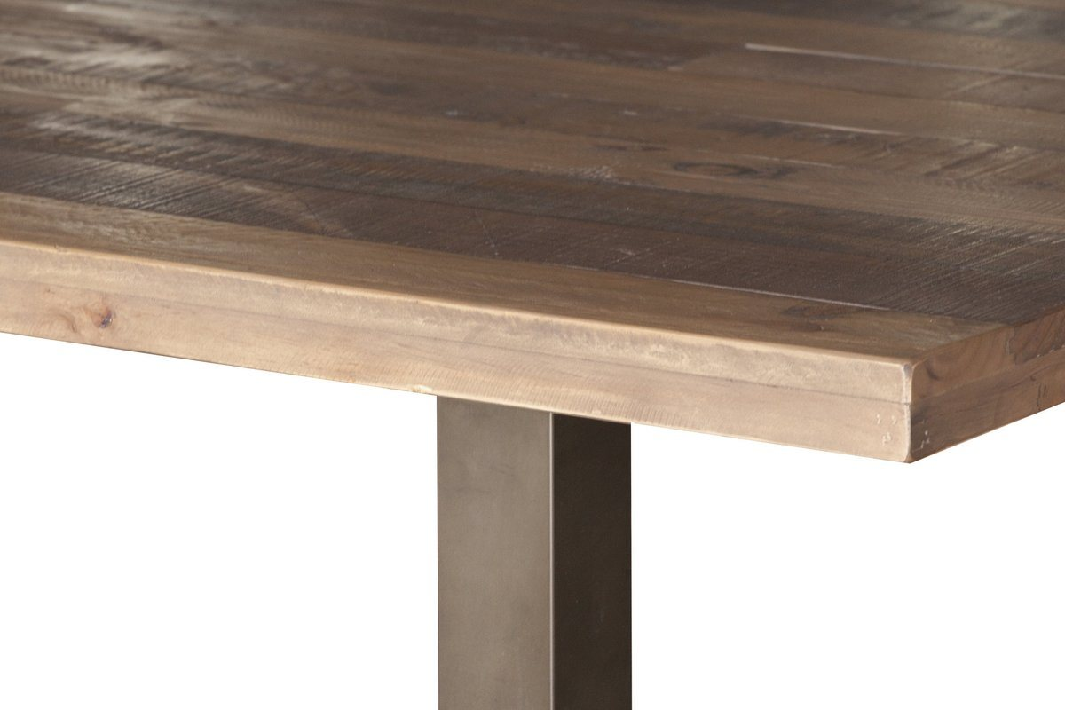 Solid Recycled Pine Wood Dining Table Showhome Furniture