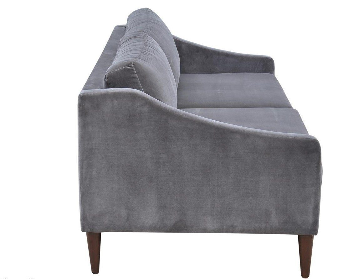 Las Vegas Paris Sofa - Velvet Concrete - Calgary Furniture Stores