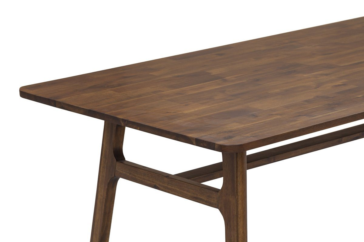 Solid acacia wood dining table estelle brown showhome furniture