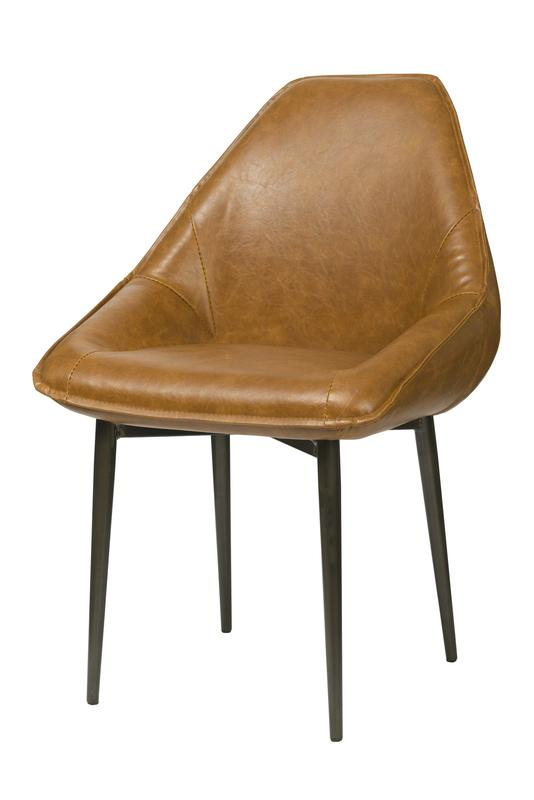 ARMANDO TUB CHAIR - TAN BROWN Chairs LH