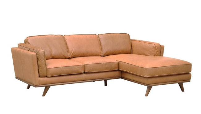 ARIA TOP GRAIN LEATHER SECTIONAL LH IMPORTS - Showhome Furniture