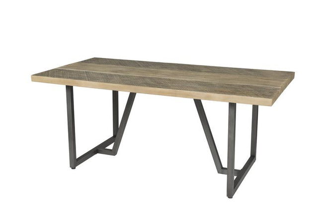 METRO HAVANA DINING TABLE - TWO TONE | Calgary's Furniture Store