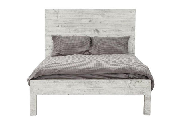 MALIBU king BED- RUSTIC WHITE Beds LH