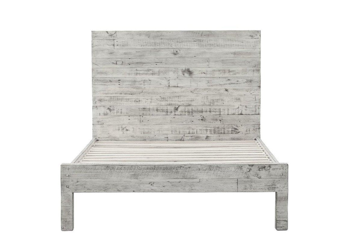 MALIBU king BED- RUSTIC WHITE