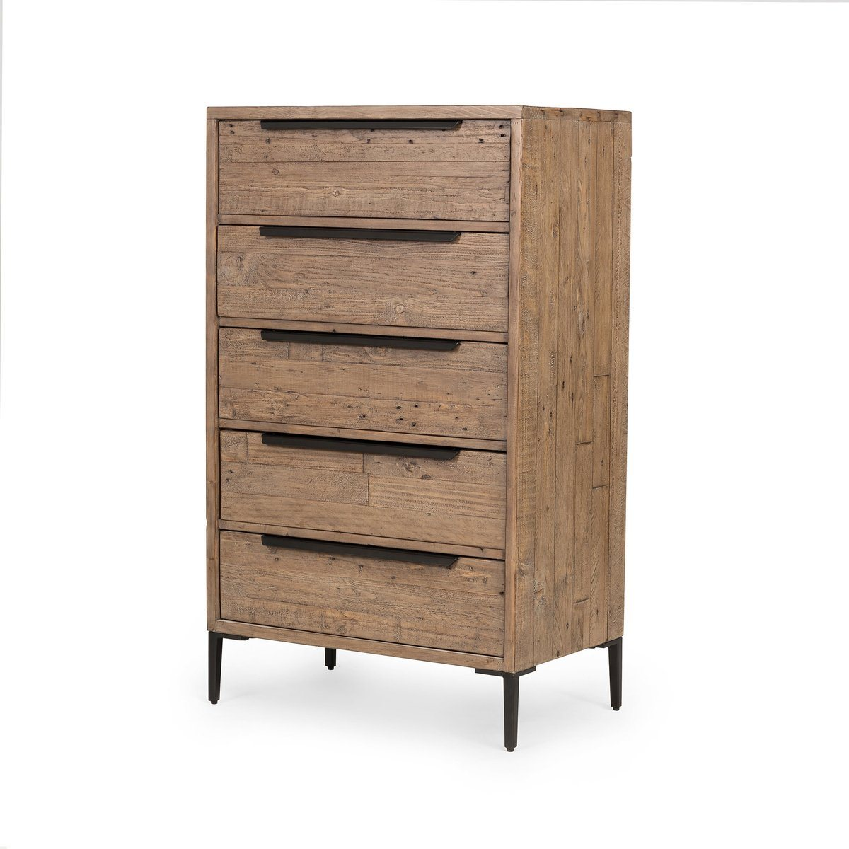 5 DRAWER DRESSER - RUSTIC SUNDRIED ASH - Showhome Furniture