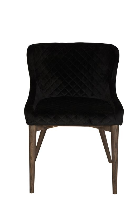 MILA DINING CHAIR - BLACK VELVET Chairs LH