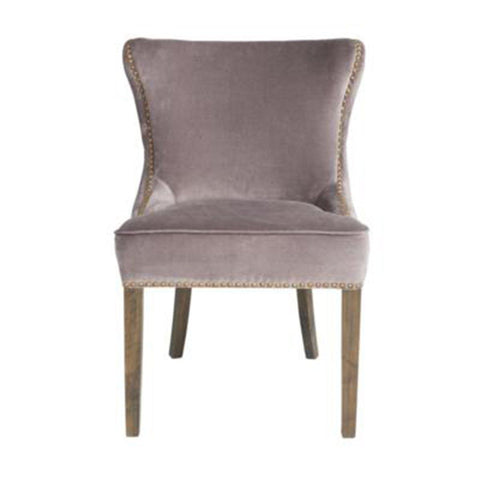 STYLISH DINING CHAIR WITH LIGHT GREY LINEN FABRIC