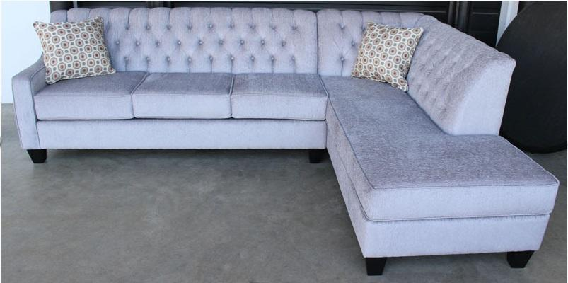 Custom Sectional Tufted Corner Chaise - Made in Canada - Showhome Furniture