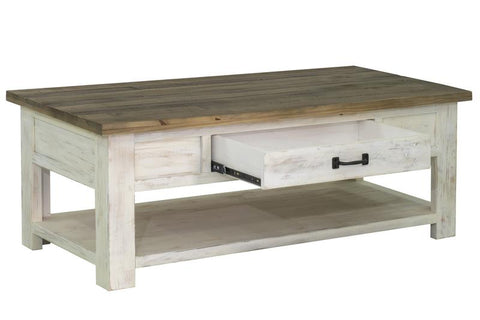 TAJ SMALL DINING TABLE - NATURAL WITH BLACK U-TUBE BASE