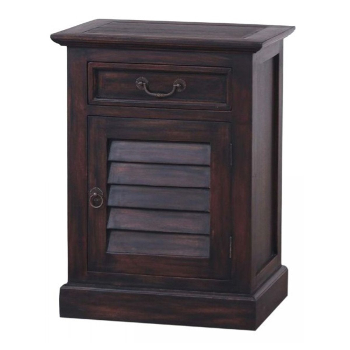 SMALL SHUTTER NIGHTSTAND CABINET Chests Bramble