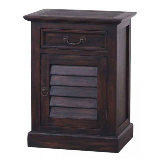 SMALL SHUTTER NIGHTSTAND CABINET - Showhome Furniture