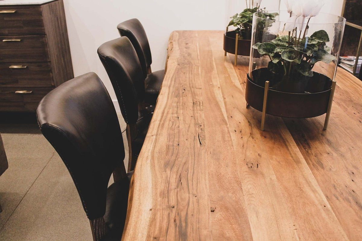 "Acacia Forest Solid Wood Live Edge (71"" 84"" 98"") 